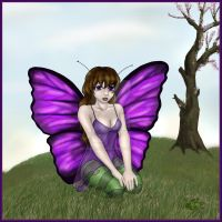 Spring Butterfly Fairy Color by lilfirebender