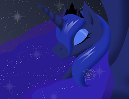 Princess Luna - Goddess of the Night by EternaNyx-Art