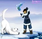 Younger Korra and Naga  I Want Fish!!! by SolKorra