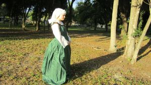Green Silk Kirtle by themouserfluff