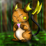 Happy Raichu by racingwolf