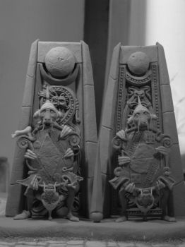 The Two Door Riddle Labyrinth sculpture by yotaro-sculpts