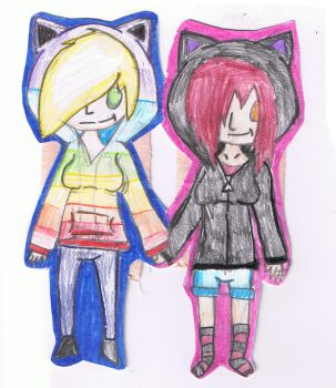 matching cat hoodies by cassi2009
