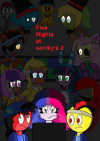 five nights at Soniky's 2 poster by bigrosie