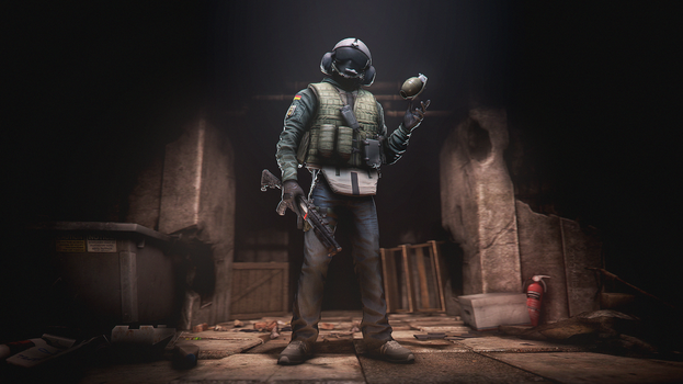 anti-grenade dude by Omgwtfbbq909