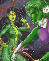 Gamorra vs She-Hulk AP by Dangerous-Beauty778