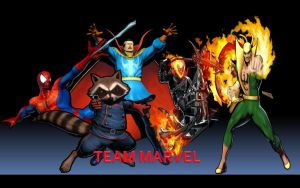 Team Marvel by thereanimatedunknown