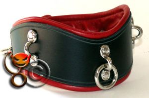 Padded leather collar by tupali