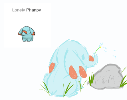 Lonely Phanpy by Elusive-Paradise