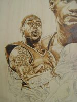 lebron james  comission wip by burninginkworks