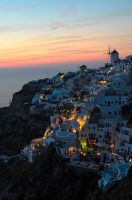 Sunset in Oia, Santorini. by ellisar