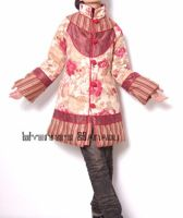 Red Orange Pink Cotton Coat 1 by yystudio