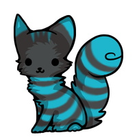 Cheshire Teal Chibi by LedieuIciss