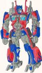 optimus prime colored by phil-cho