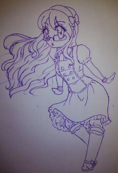 WI-FI went off so i drew this by nightmarequeenkasei