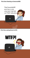 Reaction to....ImmortalHD by Mangapainter22