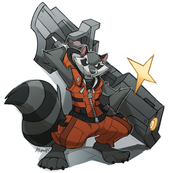 Rocket Raccoon by DrawingKuma