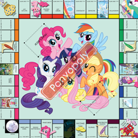 Ponyopoly Game board(Prints actual size 20inx20in) by Perma-Banned