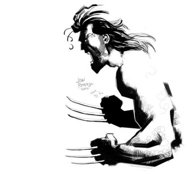 Wolverine inking challenge for WSC by RJN16