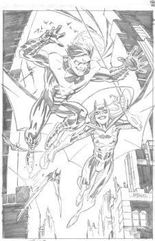 DC New 52 NIGHTWING and BATGIRL by ScottMcDaniel