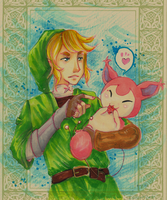 SA Little pink thing and Link by Lahara