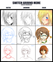 .: Switch-Around Meme :. by piko-chan4ever