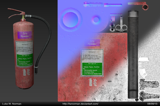 Fire Extinguisher - Game Asset by LWNorman