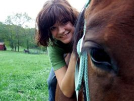 A girl and her horse by equirena