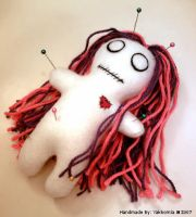 Voodoo Gal Pin Cushion Plushie by Yakkomia
