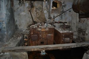 Some kind of Engine in an Abandoned Building by Swaal