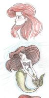 ariel doodles by mox-ie
