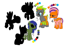 Mystery Ponies A [revealed] by opadopts