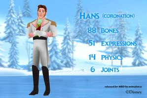 MMD Hans (Coronation Outfit) DL by BryanRush