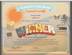 My 2011 NaNoWriMo Winner Certificate by fanfictionaxis