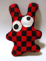 frank skanking chequered bunny by disturbedpenguinpoo