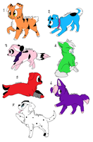 Pup adoptalbes ''point adoptale'' .:OPEN:. by IAmADummy