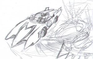 -Speed Racer Fanart Sketch- by FelipeChoque