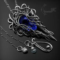 XAQUAR NOCTRA - Silver and Blue Quartz. by LUNARIEEN