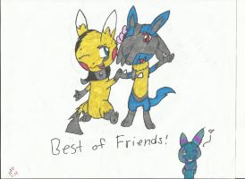Sparky and Aurastorm: Best of Friends! by Epix-Sparky