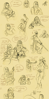 Assassins doodles again by LilayM