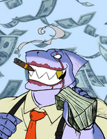 Make it Rain: Great White Loan Shark by Bug-Off