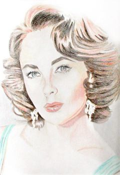 Liz Taylor (pencil drawing) by eyeqandy