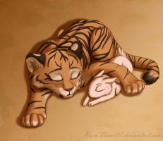 Nap Time- Tiger and Bunny Fan Art by x-RainFlame-x