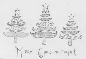 Christmustache Forest by stefania-zee