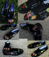 Greenday custom  shoes by feild-of-memories