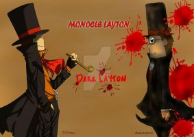 Monocle Layton and Dark Layton collab~ by descolefan1