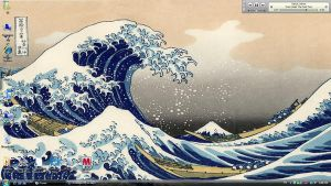 Hokusai Desktop - 06-07-09 by ifihadacoconut
