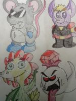 Redesigns-Various bosses by Iwatchcartoons715