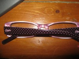 here is the back of my glasses!! by PinkPrincesskitty
