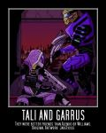 Tali and Garrus-Better Friends by ExileRogueRand